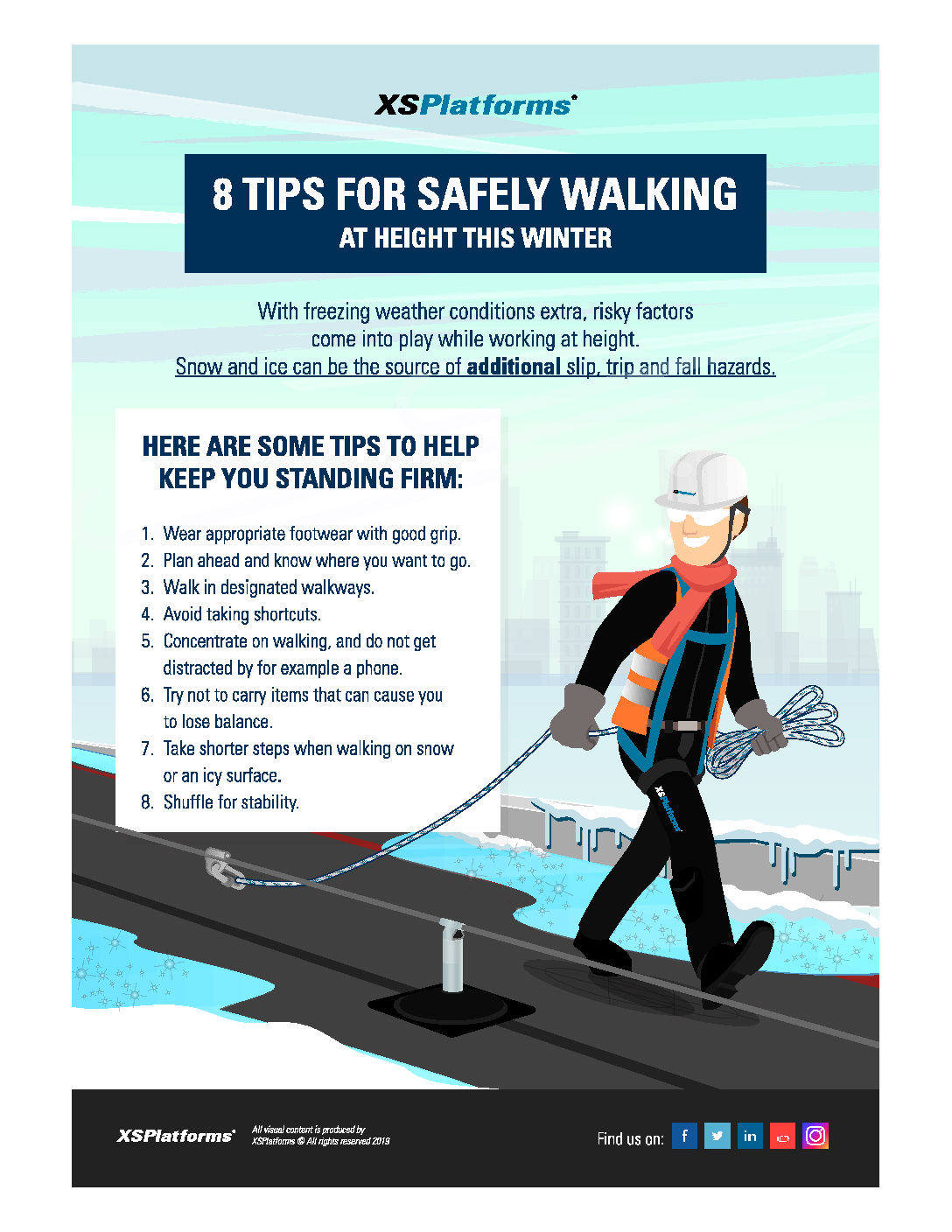Construction Fall Protection Safety — Working at Height in Winter Weather