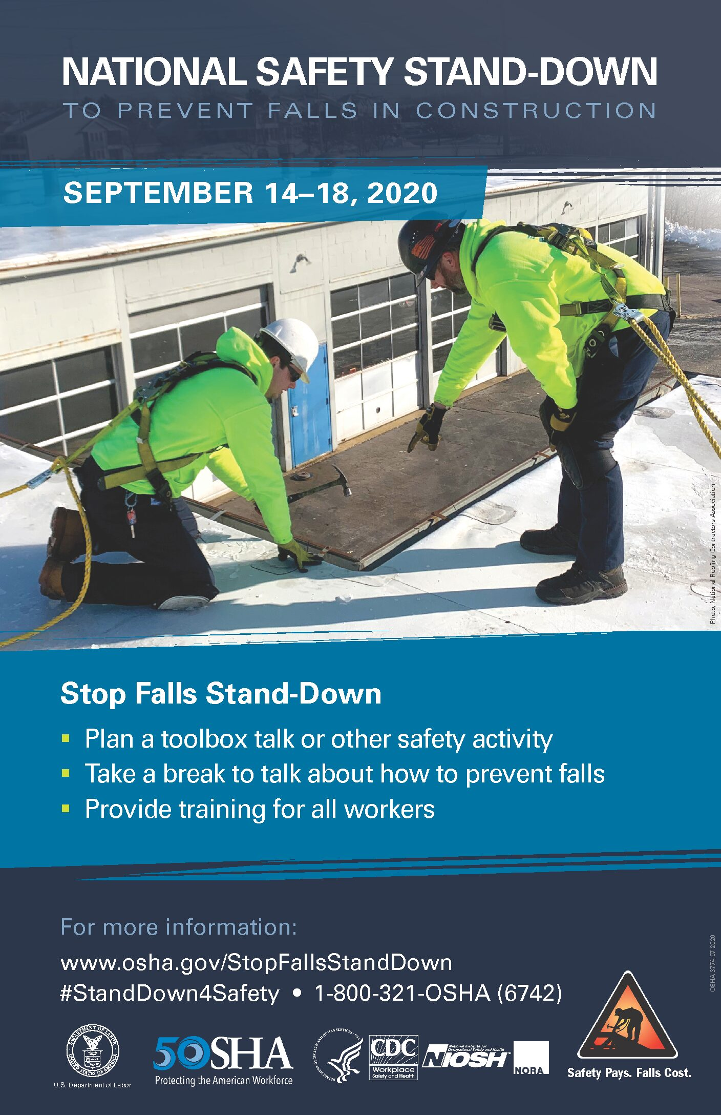WeatherBuild Supports the National Safety Stand-Down to Prevent Falls in Construction
